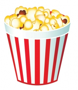 Fast food vector popcorn