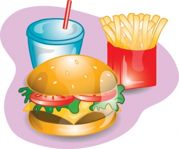 Fast food vector menu