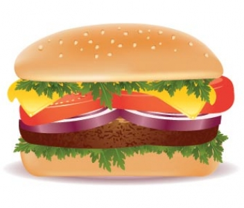 Fast food vector hamburger