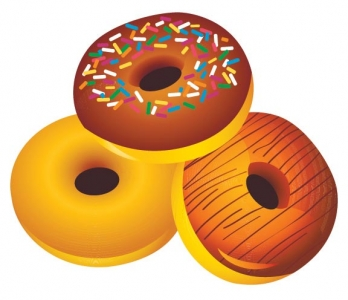 Fast food vector donuts