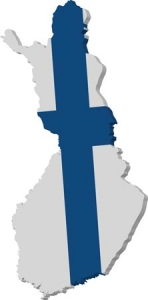 Finland vector map