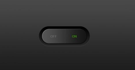 Flat switch buttons for Photoshop