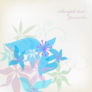 Abstract floral card vector design
