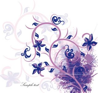 Colored floral card vector design