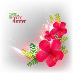 Floral spring card design