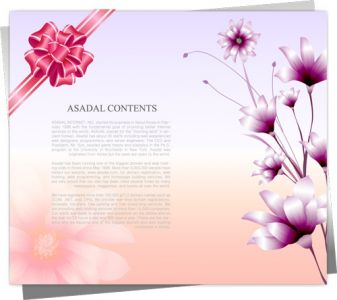 Floral template design vector