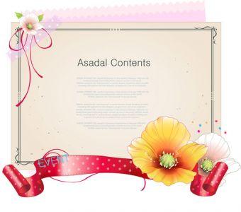 Floral template design vector