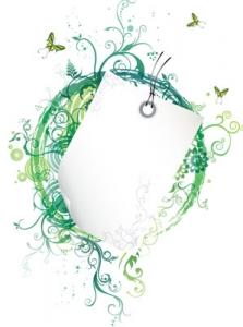 Floral vector frame label