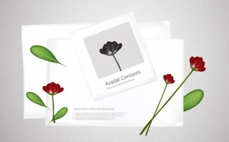 Flower album template