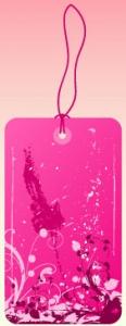 Flower Grunge Label