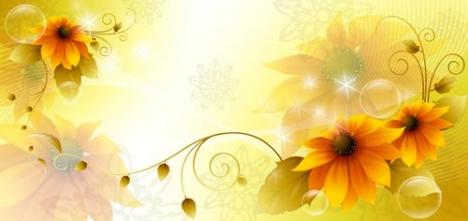 Flower spring banner