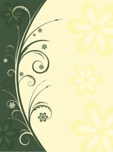 Flowers with leafs vector pattern