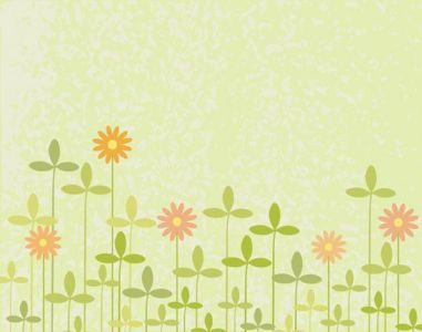 Flowers with leafs vector template