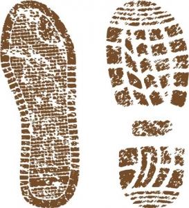 Footwear shoe prints vectors