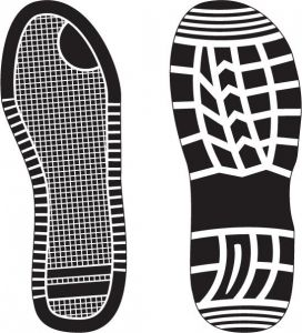 Footwear shoe prints vectors