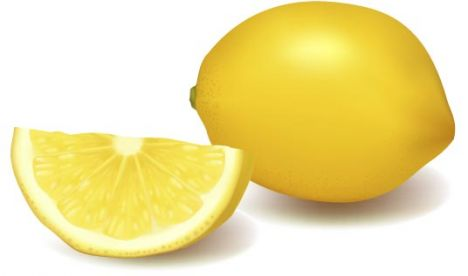 Fresh lemon vector design