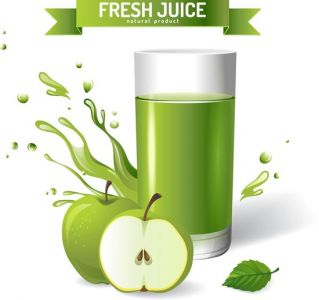 Fresh natural juice vector design
