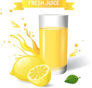 Fresh natural juice vector template