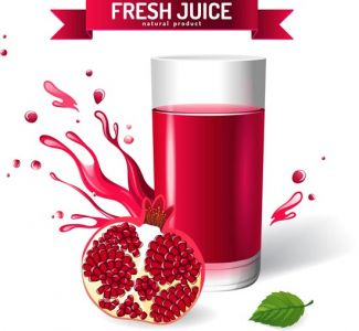 Fresh natural juice vector model