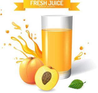 Fresh natural juice vector