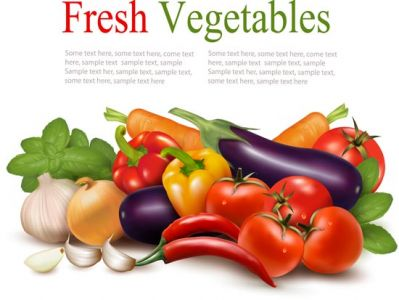 Fresh vegetables vector design