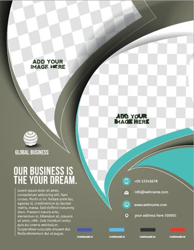 Front and back business flyer vectors for Flyer vector