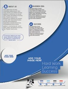 Front and back business flyer vectors