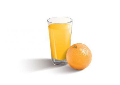 Fruit juice on cups vectors