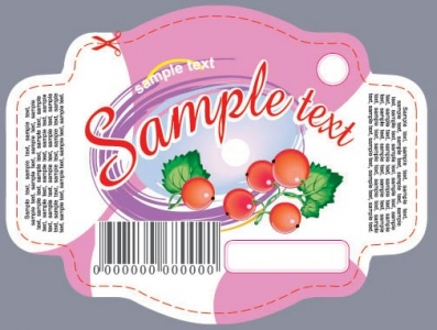 Fruit sticker design