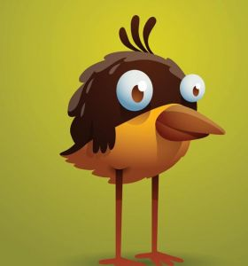 Funny cartoon birds vector