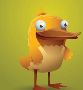 Funny cartoon birds vector