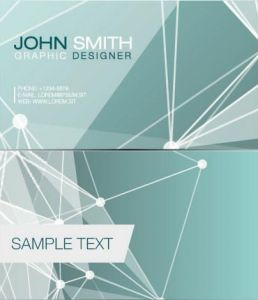 Geometric business cards with abstract elements