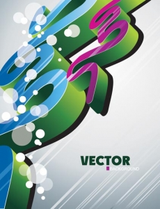 Geometric shapes in abstract vector template