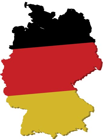 Vector Map - Germany map cartoon
