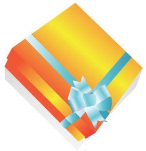 Gift box vector design
