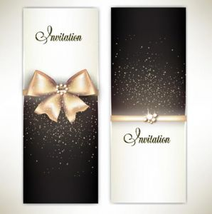 Gift cards and invitations vector