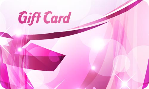 gift cards vector set