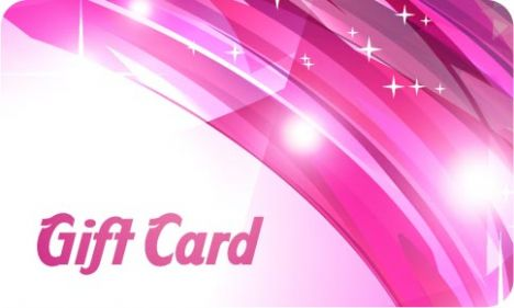 Pink gift card vector template