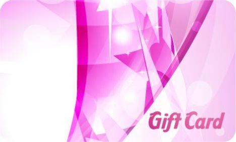 Gift card vector design