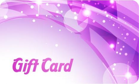 Violet gift card vector template