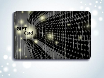 Gift cards vector template