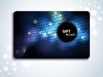 Gift cards vector layout