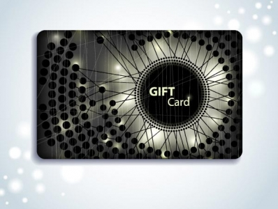 Abstract gift cards vector