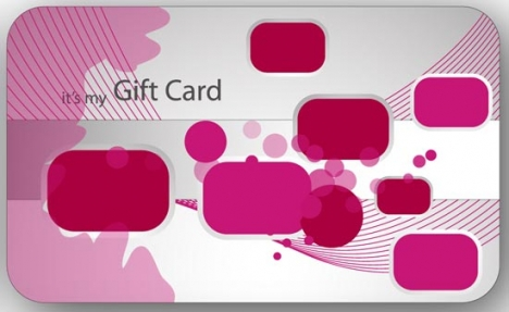 Colorful gift card design