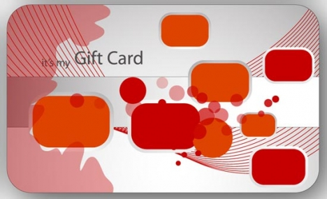 Colorful gift card template