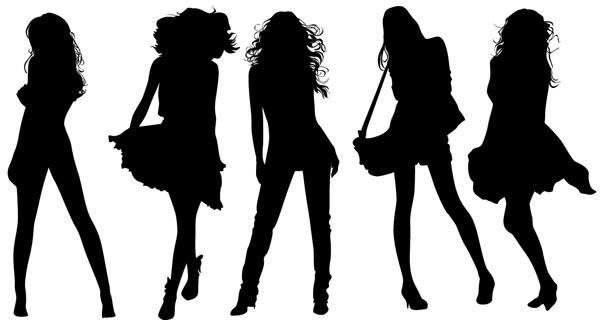girl silhouette vectors rh vector eps com silhouette vector files free silhouette vectors free
