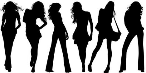 Girl silhouette design