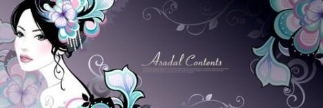 Girls and flowers banner