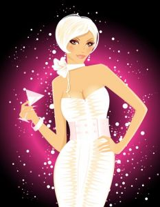 Glamour and fashion vector girl