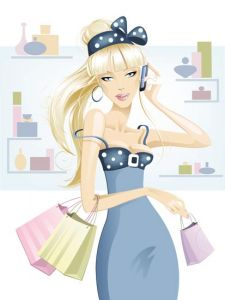 Glamour and fashion girl template